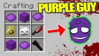 HOW TO SUMMON FNAF - MINECRAFT CRAFTING KILLER PURPLE GUY