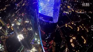 light and laser show super skyscraper Shanghai Tower through drone 4