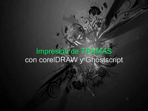 Separación de color en Corel Draw con Ghostscript