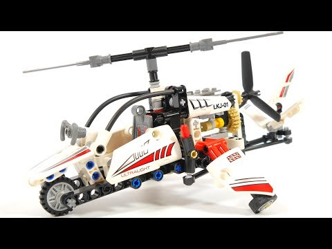 Watching video Lego Technic 42057 Ultralight Helicopter