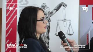 Panduru Loredana Andreea: Mulți studenți, când termină Facultatea de Drept, nu știu unde să apuce