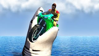 RACER vs. SHARKS IN GTA 5! (GTA 5 Funny Moments)