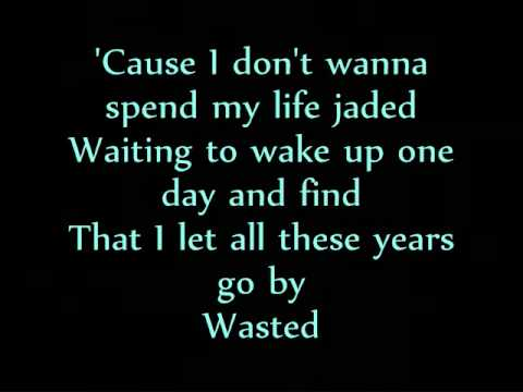 Wasted - Carrie Underwood (With Lyrics On Screen)