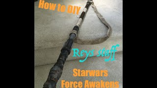 How to DIY Reys Staff - Force Awakens Cosplay, Easy Starwars costume.