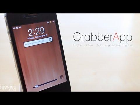 Grabber App Best Cydia Tweaks 2012