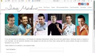 Sandeep Maheshwari Seminar Live Attend Free Seat Booking Process (Hindi)