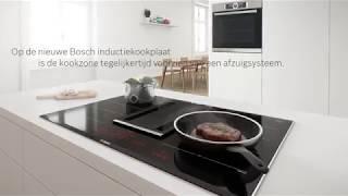 Inductiekoken met geïntegreerde afzuiging van Bosch