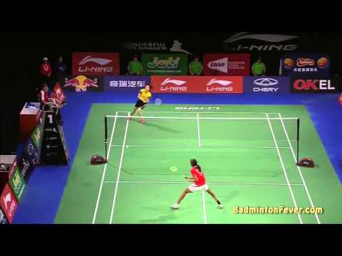 Badminton Highlights - P.V. Sindhu vs Wang Shixian - 2014 World Championships WS QF