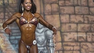 IFBB Figure Pro Solinda Hong Blakeney on stage