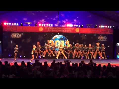 Cheer Sport Great White Sharks - Worlds 2015 Trials