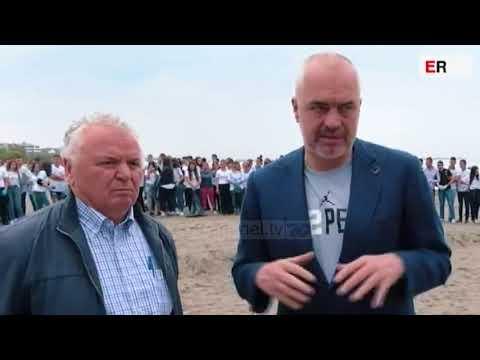 """Rama """"përvesh mëngët""""! Aksion pastrimi në plazhin e Shëngjinit - Top Channel Albania - News - Lajme"""