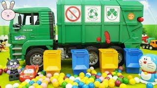 Garbage Truck for Kids | Bruder Toys | Gumball get mess up at Tayo Garage | YapiTV Toys
