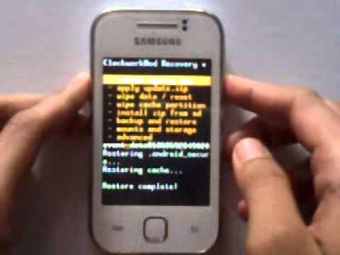 Mengembalikan ke Stock Rom Dari Custom Rom Tanpa PC Samsung Galaxy Y ...