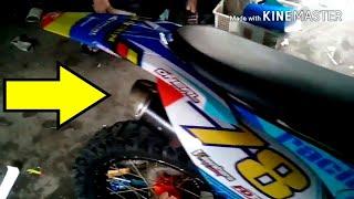 Yamaha Vixion 150 di Mofikasi menjadi Motocroos/Trail