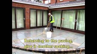 Jointing a residential patio with Gftk 815+ resin mortar