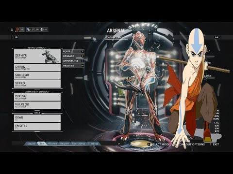 Avatar Warframe: Aang The Last Air Bender Zephyr Build Themed Build