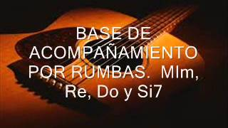 BASE DE ACOMPAÑAMIENTO POR RUMBAS   MIm, Re, Do y Si7
