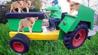 Old MacDonald Had a farm Children Nursery Rhymes Kids Pretend Play FARM Family Fun Ride on Tractor