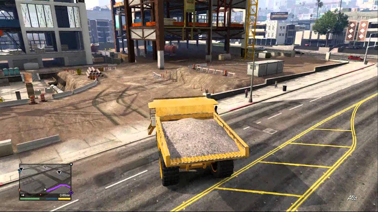 Gta 5 Dump Truck Location Gta v Earth Mover/dump Truck