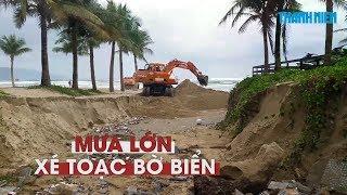 Mưa lớn xé toạc một đoạn bờ biển Đà Nẵng