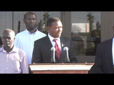 Cabinet Secretary of Transport Mr. Kamau Visits Governor Alfred Mutua on Roads Development Tour
