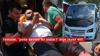 Polis, Ceza Yazdığı Minibüs Sürücüsünü Bacağından Vurdu