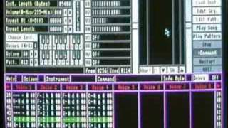 Coconizer Running on Acorn A3000 Playing Demonsong