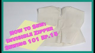 How to sew: Invisible Zipper | Sewing 101 Ep. 15| Crafty Amy
