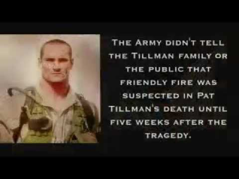 pat tillman's tragic death At the same time, the death of pat tillman and the framing of his image as an   asu speaking to us about the tragedy of his death and the mistakes and errors of .