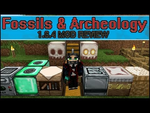 Minecraft Fossils and Archeology 1.6.4 (Dinosaurs!) - Mod Review!