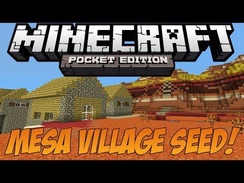 [0.10.0+] Mesa Village Seed (At Spawn)! - Minecraft: Pocket Edition Seed Showcase