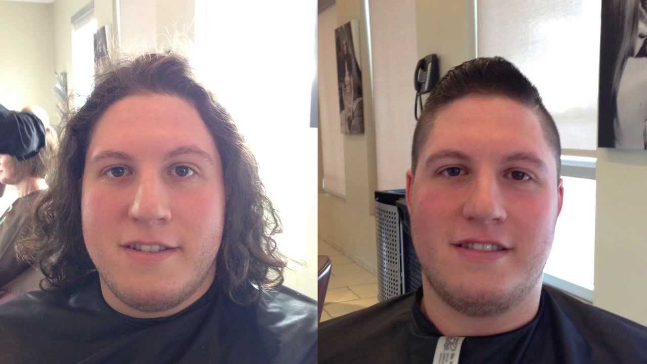 The FAT Guy Donates Hair For The Children Locks Of Love