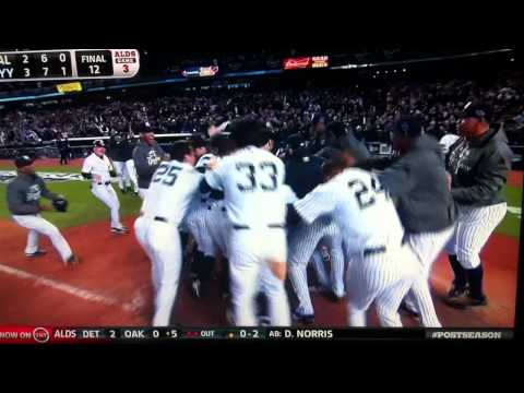 Raul Ibanez Walk Off Home Run 2012 ALDS Yankees vs. Orioles HD