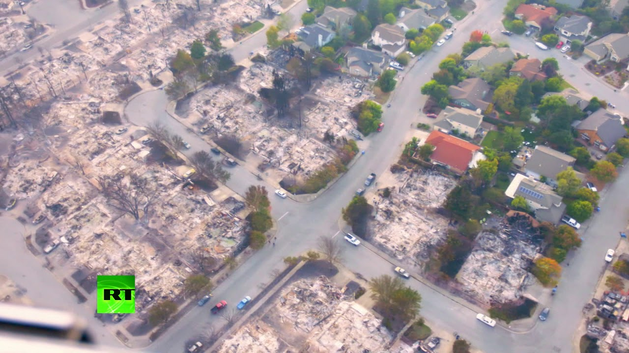 Aftermath Aerial: Californian wildfire devastation captured on cam