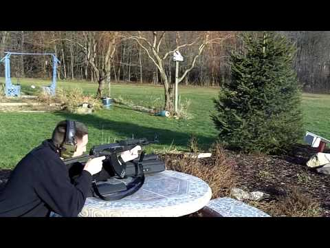 Shooting my Yugo M70AB2 AK47. Underfolder AK 47. 7.62x39