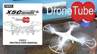 Syma X5C Unboxing and Instruction Manual - DroneTube