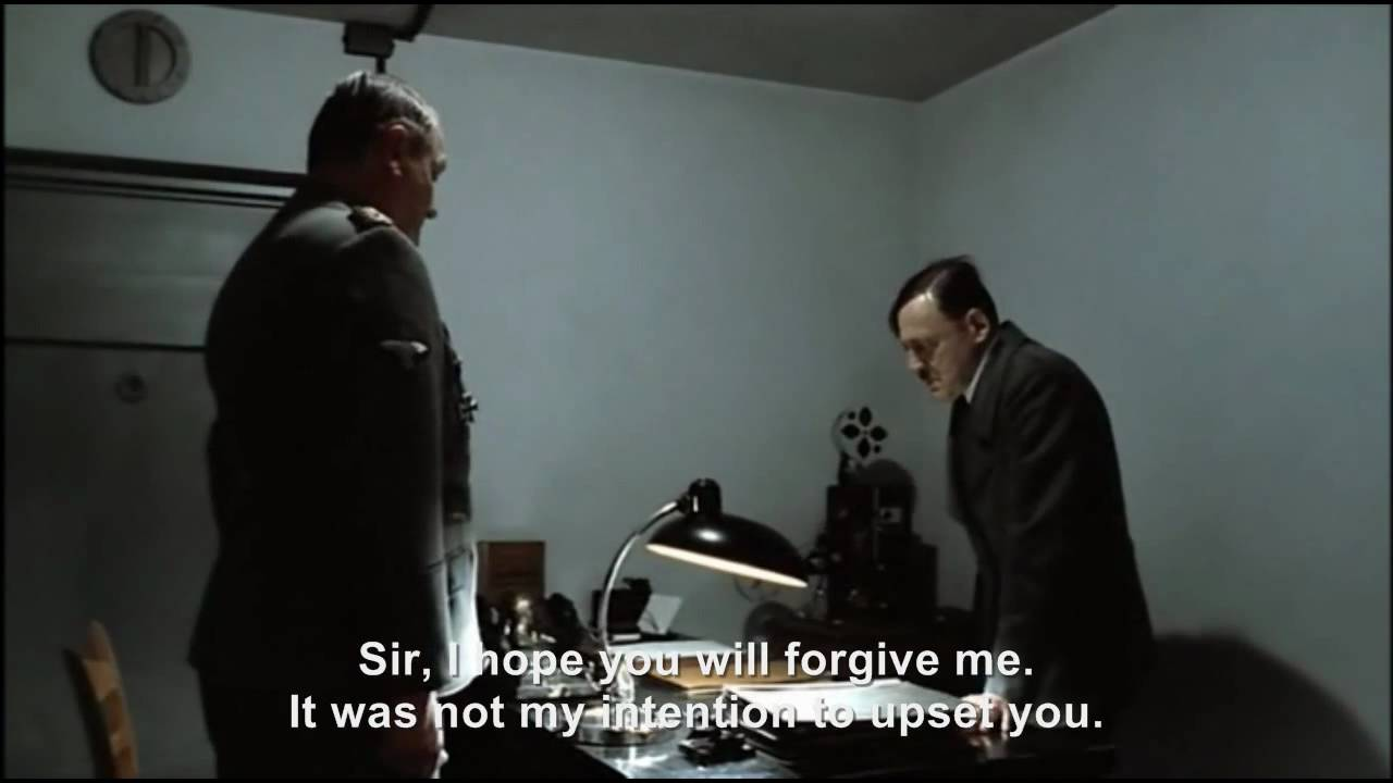 Hitler confronts a Downfall Parody Maker