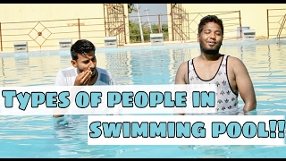 Types of people at swimming pool || Funny video || Nizambad diaries