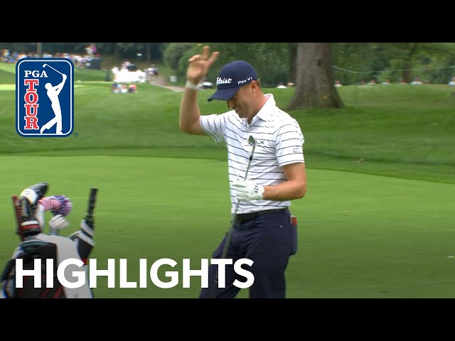Justin Thomasв highlights from course record 61  BMW Championship 2019