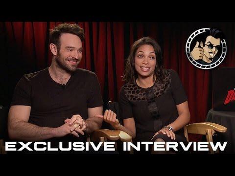 Charlie Cox and Rosario Dawson Interview - Daredevil (HD) Marvel, Netflix, 2015