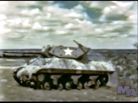 World War 2 Tank Destroyer Boot Camp (Restored Color 1943)