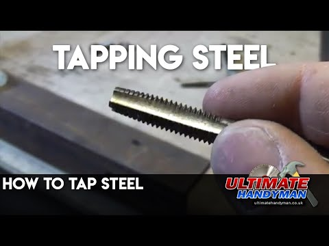 How to tap steel | tapping steel | ultimatehandyman