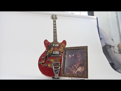 Guitars belonging to famous musicians to hit the auction block