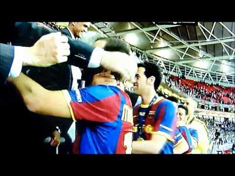 UEFA CHAMPIONS FINAL 2011 - POST-GAME CEREMONY AT WEMBLEY STADIUM