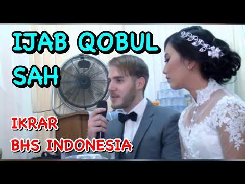Bule Akad Nikah & Berikrar Pakai Bhs Indonesia- Marriage Solemnization
