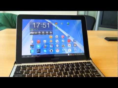 Demostración de la Galaxy Tab 10.1 con teclado y mouse bluetooth
