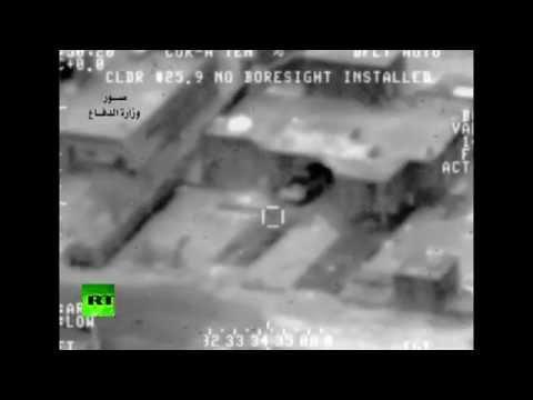 Airstrike combat-cam: Iraqi Air Force pound #ISIS targets