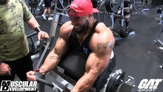 Sergio Oliva Jr Training Series sponsored by GAT | Arm Workout Part 1