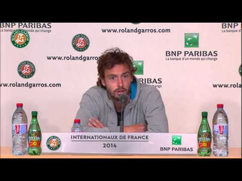 Press conference Ernests Gulbis R4 2014 French Open