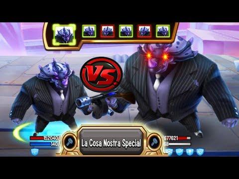 Monster Legends - Gangsterosaurus level 130 vs Evil-Gangster level 130